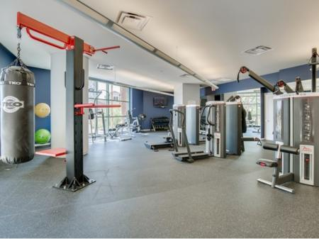 Luxury-apartments-downtown-jacksonville-exercise-room